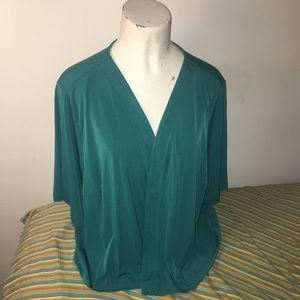 Catherine's Teal Green Shrug 3X